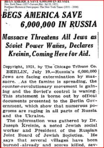 New York Times 20. Juli 1921